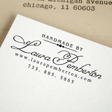 Personalized Custom Handle Mounted Rubber Stamp Email Address Handmade By RE627