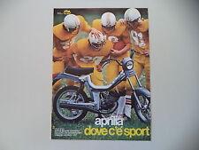 advertising Pubblicità 1982 APRILIA FILO G1A