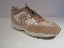 Geox d Happy R [talla 40] señora cuero cortos calzado deportivo beige nuevo & OVP