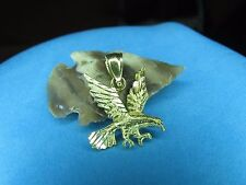 Great Eagle Pendant  14K  Solid Yellow Gold  Flying Eagle is Beautiful