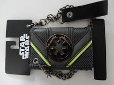 Star Wars Rogue One Empire Logo Metal Badge Chain Wallet Nwt