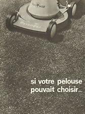 Publicité 1966  OUTIL WOLF ROTONDOR  tondeuse