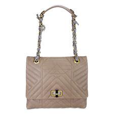Lanvin Happy Classic Medium Lambskin Shoulder Bag - Mastic