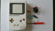CARCASA COMPLETA+PANTALLA COMPATIBLE GAME BOY CLASSIC WHITE NEW/NUEVO