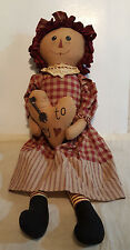 Cute Country Look Rag Doll, Great For Display