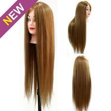 "24"" Real Human Hair 70% Hairdressing Training Head Cosmetology Mannequin Doll"