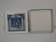 1983 Dutch Delft Blue Apothecary Pharmacist Pill Tile B-775 Working Outdoors
