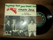 """THE TROGGS / ANYWAY THAT YOU WANT ME + 3 TITRES (1966) 7"""" E.P french COUSIN JANE"""