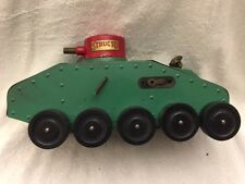 1930s Structo Pressed Steel Army Tank With Electric Searchlight