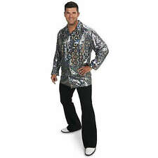 Disco Shirt Adult Plus Costume 1X, Multi-Colored, Halloween, Party