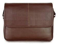 Xtag 15.6 inch Leather Unisex Laptop Notebook &Tablet Bags (Brown)