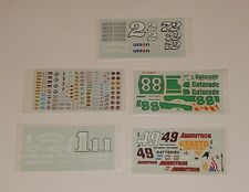 Lot of 5 Unused Nascar Model Car Kit DECALS  R8140