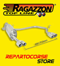 RAGAZZON TERMINALE SCARICO SDOPPIATO 2 2x70mm ALFA MITO 1.4 TB 88 kW 50.0267.56