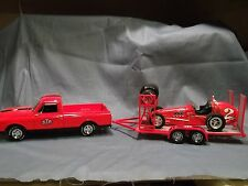 CHEVY C10 STP PICKUP TRUCK & TRAILER ANDRETTI CAR RACING 1:18 REPLICARZ ACME GMP
