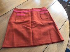 Women's Orange Spice Wool Skirt By Boden Sz 18L EUC