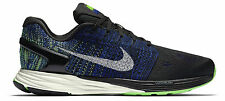 NIKE LUNARGLIDE 7 Running Trainers Shoes Gym UK 10.5 (EU 45.5) Black Racer Blue