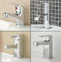 Tap Bathroom Sink Basin Mixer Waterfall Taps Chrome Wash Sink Mono Single Lever
