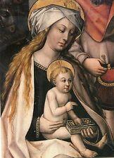 Alte Kunstpostkarte - Vierzehn-Nothelfer-Altar - Maria mit dem Kind