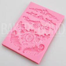 Multi Vintage Baroque Lace Decoration Silicone Mould Floral Love Sugarcraft