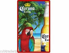 Corona Beer Parrot  Refrigerator / Tool Box Magnet Man Cave Gift Card Item