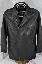 Vtg REED Leather Sportswear Men's 40 tall 40T Leather Trench Coat Field Jacket