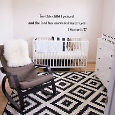 Bible Inspired Wall Sticker For This Child I Prayed Quote Vinyl Removable Decor