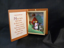 MARY HAD A LITTLE LAMB MOTHER GOOSE HALLMARK KEEPSAKE ORNAMENT-1996