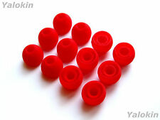 12pcs Medium Red Soft Replacement Eartips for Jaybird Freedom and Freedom Sprint