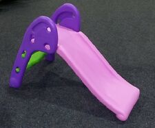 Mini Childrens Folding Playground Slide PINK PURPLE Easy Storage Indoor Outdoor