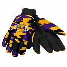 LA Los Angeles Lakers Camouflage Sports Utility Gloves Work gardening NEW CAMO