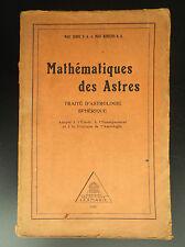 Mathématique des astres 1929 Traité astrologie Zariel Aurelius Leymarie BE