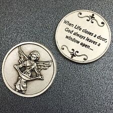 Guardian Angel Catholic Token Protector Protect Devotion Prayer Coin Medal