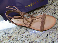 NEW MADDEN GIRL TORREN STRAPPY LACE UP WEDGE SANDALS WOMENS 6.5 FREE SHIP