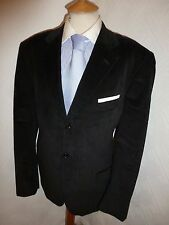 MENS O-Z OZWALD BOATENG BROWN CORD AUTUMN FALL SUIT JACKET 42 R WAIST 34 LEG 33