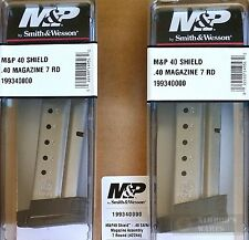 TWO S&W Smith Wesson M&P Shield .40SW 7 Round Magazines 19934 *FAST SHIP*!!