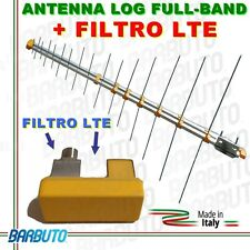 LOG ANTENNA LOGARITMICA + FILTRO LTE, HD VHF + UHF, ALTO GUADAGNO, MADE IN ITALY