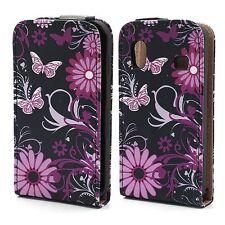Flip Cover/Schutz-Hülle zu Samsung Galaxy Ace GT-S5830i - Blumen B01 Pink Case