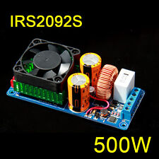 IRS2092S 500W Mono Channel Digital Amplifier Class D HIFI Power Amp Board w FAN