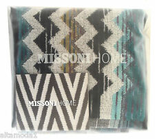"MISSONI HOME TWO FINGERTIP HAND TOWELS SET PAUL 170 11.8"" x11.8"" BRANDED PACKAGE"