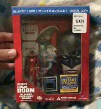Justice League Doom w. Flash Figure Blu-Ray Exclusive ***VHTF*** •RARE• Look :)