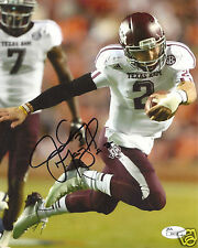 JOHNNY MANZIEL TEXAS A&M AGGIES SIGNED 8X10 PHOTO W/JSA COA #4