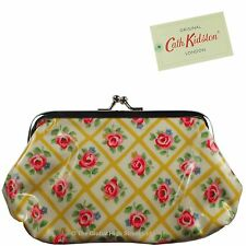 Cath Kidston Clasp Purse Quilted Rose (Mustard) Oil Cloth *100% authentic* BNWT