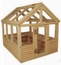 1:12 Scale Dolls House Miniature Flat Pack Unpainted Greenhouse Accessory