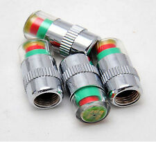 4 Pcs Car Auto Tire Pressure Monitor Valve Stem Cap F44 Indicator Eye Alert