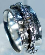 Cigar Band Style Wide Israel Ring Sterling Silver Size 6