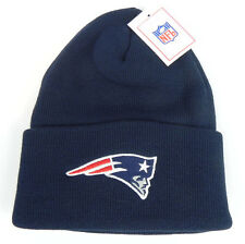 NEW ENGLAND PATRIOTS NFL VINTAGE NAVY KNIT CUFFED REEBOK BEANIE CAP HAT NEW!