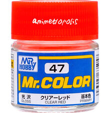 MR HOBBY Color C47 Clear Red (Gloss / Primary) Paint 10ml