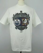 Vintage Reebok Conference Final Mighty Ducks vs Oilers T Shirt Size Adult Large