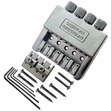 Set of Black 4 String Headless Bass Guitar Bridge System New