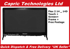"Lenovo Flex 2 14 Touch Screen Digitizer 14"" HD LED LCD Panel With Bezel"
